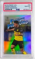 2019 Topps Finest UEFA Phenoms Jadon Sancho Borussia Dortmund PSA 10 GEM MINT