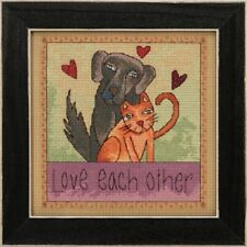 10% Off Mill Hill/Sticks Counted X-stitch/Bead Kit - Love Each Other