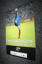 Programme Officiel )) FRANCE V BOSNIE BOSNIA 2004 a Rennes