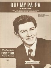 Oh My Papa Sheet Music Piano Voice Guitar Eddie Fisher 1950 Fireworks Musical