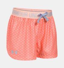 Under Armour Girls Play-Up Printed Shorts Size Yxl/Jtg/Eg London Orange