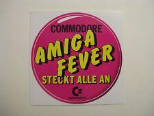 Comodore c64 - AMIGA FEVER - Aufkleber Original 80er Jahre Sammlerstück