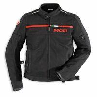 DUCATI CORSE TEXTILE JACKET MOTORBIKE / MOTORCYCLE BLACK
