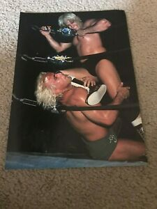 Vintage NWA RIC FLAIR Wrestling Pinup Photo 1980s WWF NATURE BOY WCW RARE