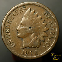 1908-S Indian Head Penny 1c 112620-06E Free Shipping!