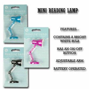 MINI READING LAMP CLIP ON Flexible mini Desk Bed Read Table Study Light Gift UK