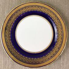 Aynsley Simcoe Oro Azul Cobalto Lado Plato de Postre 21 cm 7410 Porcelana Fina