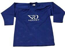 VINTAGE Hockey Jersey Size Small s Blue Long Sleeve V-Neck Adult 90's USA MADE