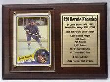 St. Louis Blues Bernie Federko Hockey Card Plaque