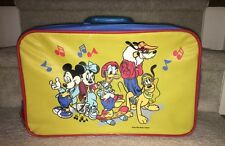 Walt Disney Suitcase Mickey Minnie Mouse Donald Goofy Pluto Child's Vintage