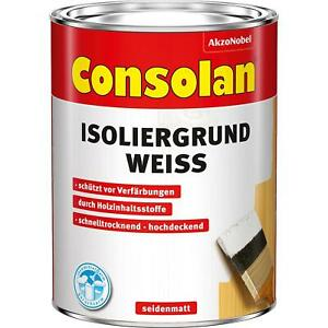 Consolan Isoliergrund Spezialgrundierung für Holz weiss 2,5 Liter