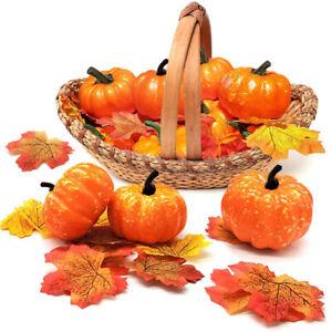 12Pcs/Set Mini Artificial Foam Pumpkin Simulation Props Halloween Party Decor