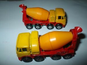 Matchbox Lesney Superfast #21 Foden 8 Wheel Cement Truck x 2 shades VNMINT!