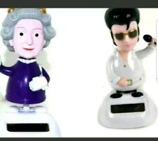 Elvis Presley The King Solar Powered Rock and Roll  Figure With Queen Elizabeth