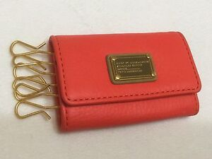 New With Tags MARC BY MARC JACOBS DIVA PINK 6 KEYS HOLDER WALLET Genuine Leather