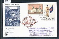 98119) LH FF Stuttgart - Dublin Irland 2.7.94, So-Karte ab Malta RR!