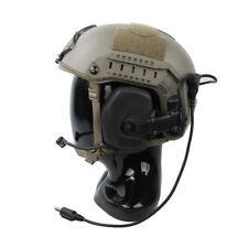 TMC Tactical Function RAC Noise Reduction Headset For ARC Series Rail Helmet BK