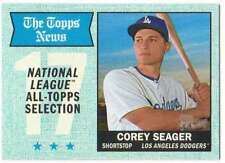 2017 Topps Heritage Baseball Blue Border Parallel #367 Corey Seager Dodgers