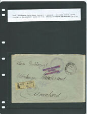 More details for wwi postal history, czech republic, 1916, registered cover, goding - delmenhorst
