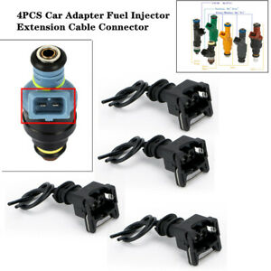 4xCar Adapter Fuel Extension Cable Connector Plugs Clips Trims For EV1 Interface
