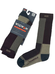 Wigwam I7764 - Men's Windriver Merino Wool Outdoor Crew Socks - Maroon -Closeout