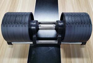 2 X 32KG Adjustable Black Dumbbells 64kg Total