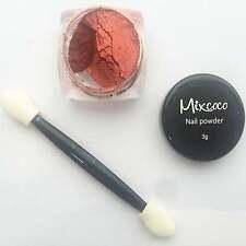 Mixcoco Profesional Brillo & el aplicador polvo de uñas-Rojo (3g)