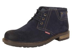 Levi's Men's Cambridge-Suede Navy Levis Chukka Boots Shoes Sz: 13