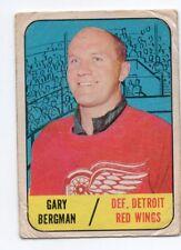 1X GARY BERGMAN 1967 68 Topps #47 GVG DETROIT RED WINGS