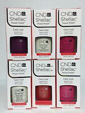 CND SHELLAC Nail Polish UV Soak off gel colors SET. PICK 6 COLORS