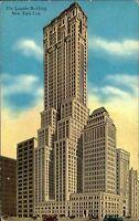 New York City Amerika USA AK ~1920/30 Lincoln Building Madison Avenue Hochhaus