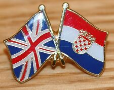 UK & CROATIA FRIENDSHIP Flag Metal Lapel Pin Badge Great Britain
