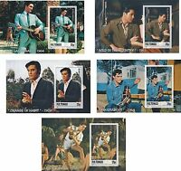 ELVIS PRESLEY MOVIES 5 SOUVENIR SHEETS MNH IMPERFORATED music