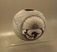 "VINTAGE ACOMA SEED POT - SIGNED - 6"" TALL"