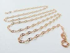 Au750  Authentic Pure 18K Rose Gold Necklace/ Women Lucky Anchor Chain Necklace