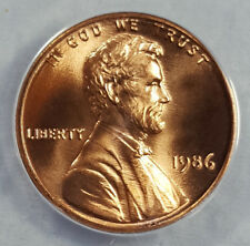 1986 ANACS MS68RD SUPERB GEM BU LINCOLN CENT 1 OF 2 WITH NONE BETTER 6187533