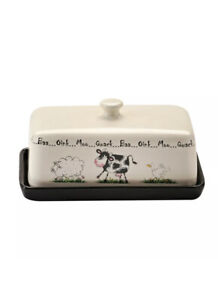 Price & Kensington Stoneware Home Farm Cow Sheep Butter Dish With Lid 0057.072