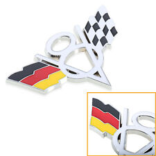 Germany Racing Flag V8 3D Metal Badge Car Fender Trunk Body Emblem
