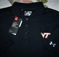 Under Armour VIRGINIA TECH HOKIES Men's Polo Golf Shirt NEW NWT Sz XXL 2XL Black