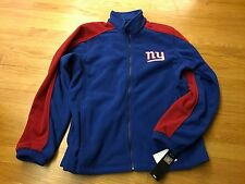 NY Giants Fleece Jacket, Men's size Medium, NFL Team Apparel, new with tags