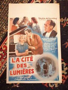 La Cite des Lumieres Original Belgian Movie Poster Affiche 1938