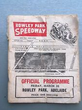 VERY EARLY 1950'S ( 1954 ) SEASON SPEEDWAY OFFICIAL PROGRAM ROWLEY PARK