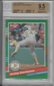 RICKEY HENDERSON 1991 DONRUSS #648 BGS 9.5 GEM MINT- HIGHEST BGS VERSION OF CARD