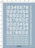 USA Number for different scales (white) 60933 Model Kit Water Slide Decal 7x10cm