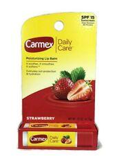 Carmex Daily Care 0.15 oz Tube Strawberry Flavor Moisturizing Lip Balm w/SPF 15