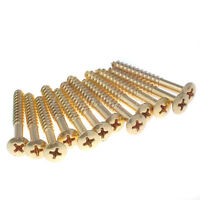 12 x  GOLD GUITAR SCREWS FOR NECK PLATE QUALITY WHOLESALE PARTS