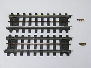 2 - LIONEL # 34 STRAIGHT SUPER O HALF TRACK WITH ALL RAIL PINS & BUS BAR CLEANED