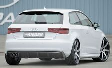 Rieger Heckeinsatz im Carbon-Look Doppelendrohr links für Audi A3 8V ohne S-Line