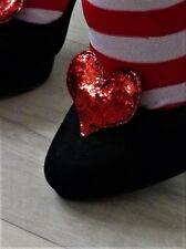 Red Glitter Sparkly Pair of Shoe Clips  -  Queen of Hearts Fancy Dress