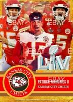 Patrick Mahomes Kansas City Chiefs Limited Edition Super Bowl 55 Trading Card